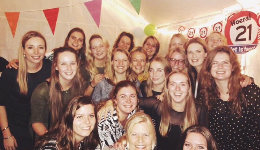 Linnie's 21 borrel!